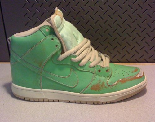 Nike Sb Dunk High Pro Shoes Dark Loden